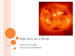 The Sun as a Star - University of Sheffield