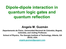 Dipole-dipole interaction in quantum logic gates and