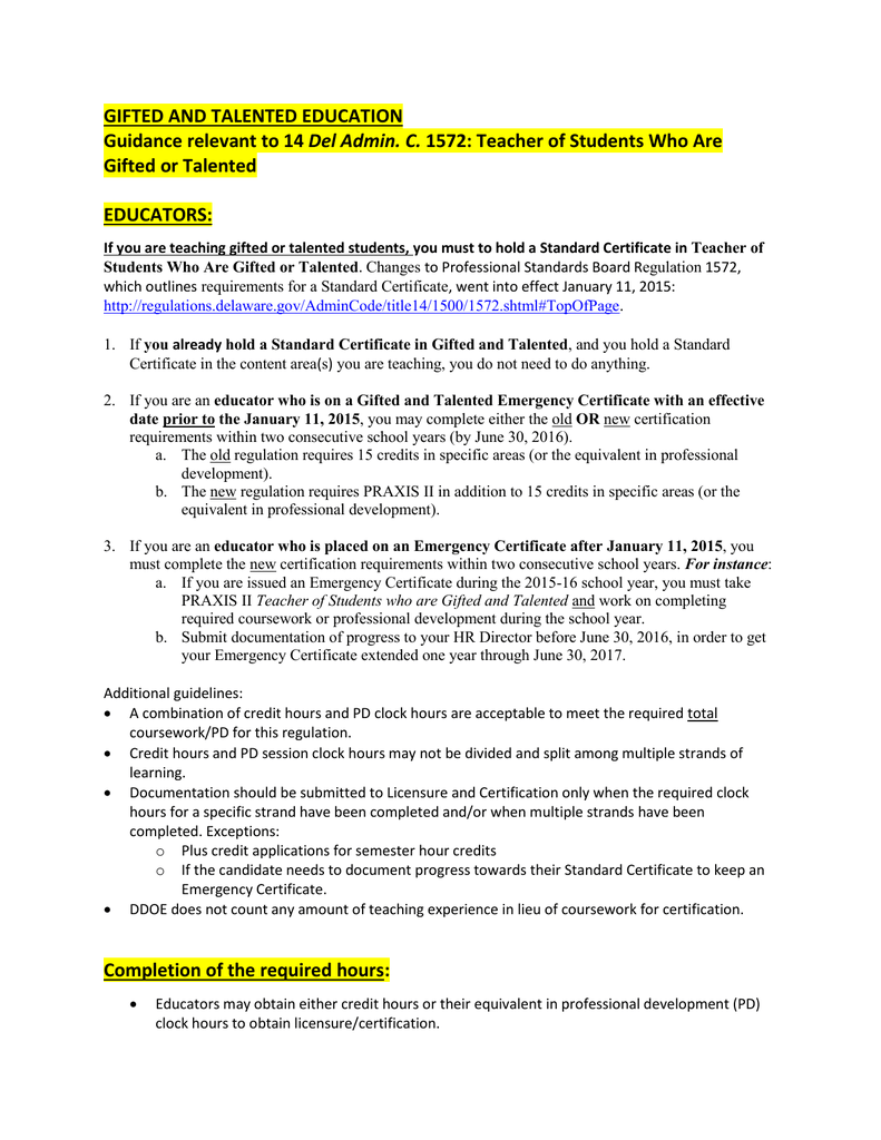 1572 Guidance Document Delaware Department Of Education