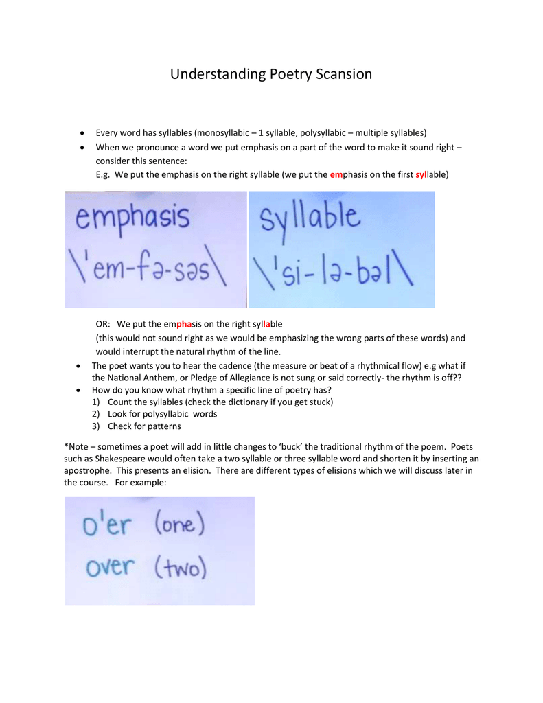 scansion homework answers