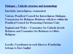MGFS: Short Presentation - The Catholic Church for England and