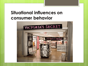 Situational influences on consumer behavior