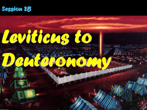 2B Leviticus to Deuteronomy PPT
