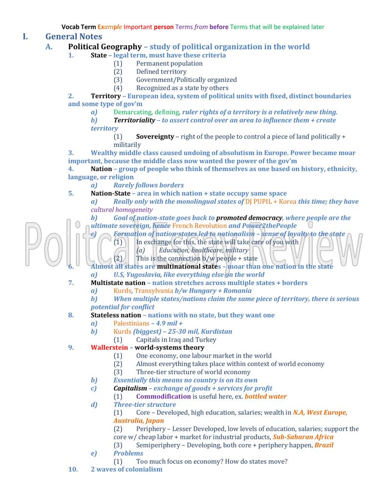 Political Essay Review