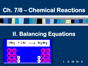 Ch. 3 - Chemical Reactions
