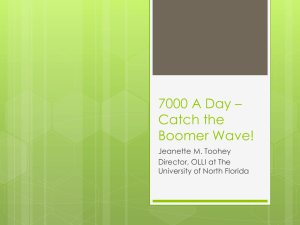 7000 A Day * Catch the Boomer Wave!