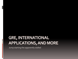 Microsoft Power Point GRE, InternationalApplications