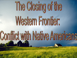 Westward Expansion: Conflict with Native Americans