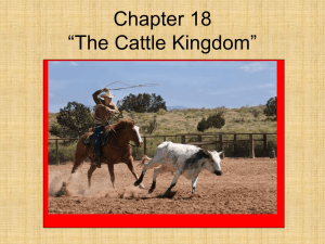 "Chapter 18 ""The Cattle Kingdom"""