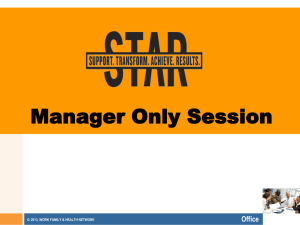 STAR Managers Only Session