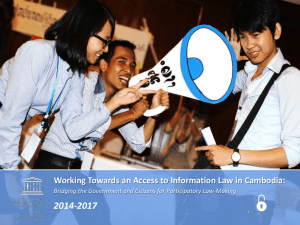 2. Working Towards an Access to Information Law in Cambodia