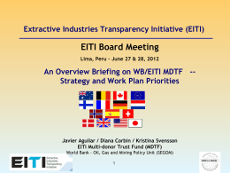 WB EITI MDTF technical assistance