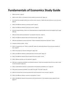 Fundamentals of Economics Study Guide