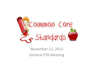 Engaging Families in the Transition to Common Core State Standards