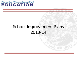 School Improvement - the School District of Palm Beach County