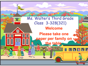 Ms. Denise*s Second- Grade Class - Mrs. Walter's Wonderful World