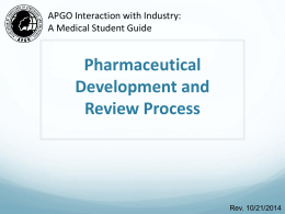 Pharmaceutical Development and Review Process