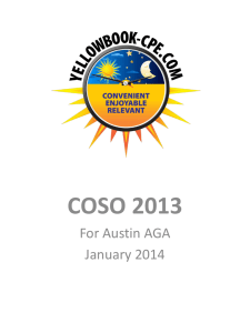 COSO ERM Model - AGA Austin Chapter