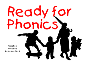 Phonic presentation for parents