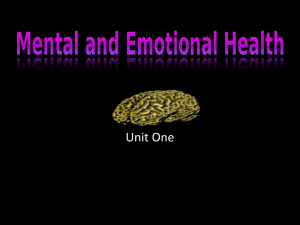 Mental and Emotional Health Ppt