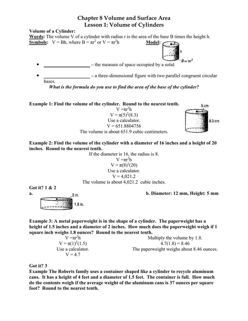 Surface area of cylinders buycottarizona Image collections