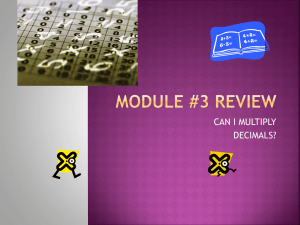 MODULE #3 REVIEW