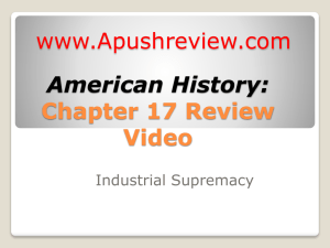 American History chapter 17