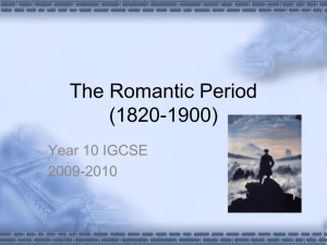 The Romantic Period (1820