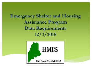Emergency Shelter and Housing Assistance Program Data