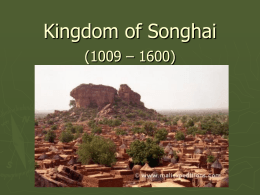 Kingdom of Songhai