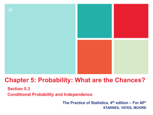 Section 5.3 Conditional Probability and the General Multiplication