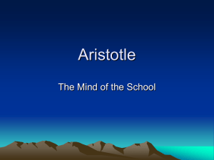 Aristotle PPT Notes