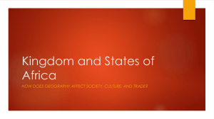 Kingdom and States of Africa - Mater Academy Lakes High School