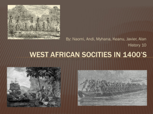 West African Societies Block G File