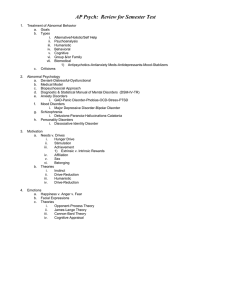 Review Sheet - Semester Test - Spring 2011
