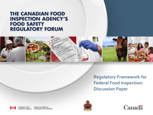 Presentation - the Canadian Health Food Association