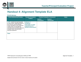 Word - Washington State Teacher/Principal Evaluation Program