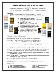 Diving into literature (handout)