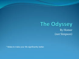 Homer's the Odyssey how to write dissertation