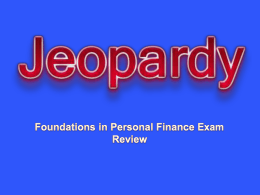 POWERPOINT JEOPARDY - Economics & Personal Finance