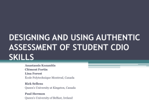 DESIGNING AND USING AUTHENTIC ASSESSMENT OF