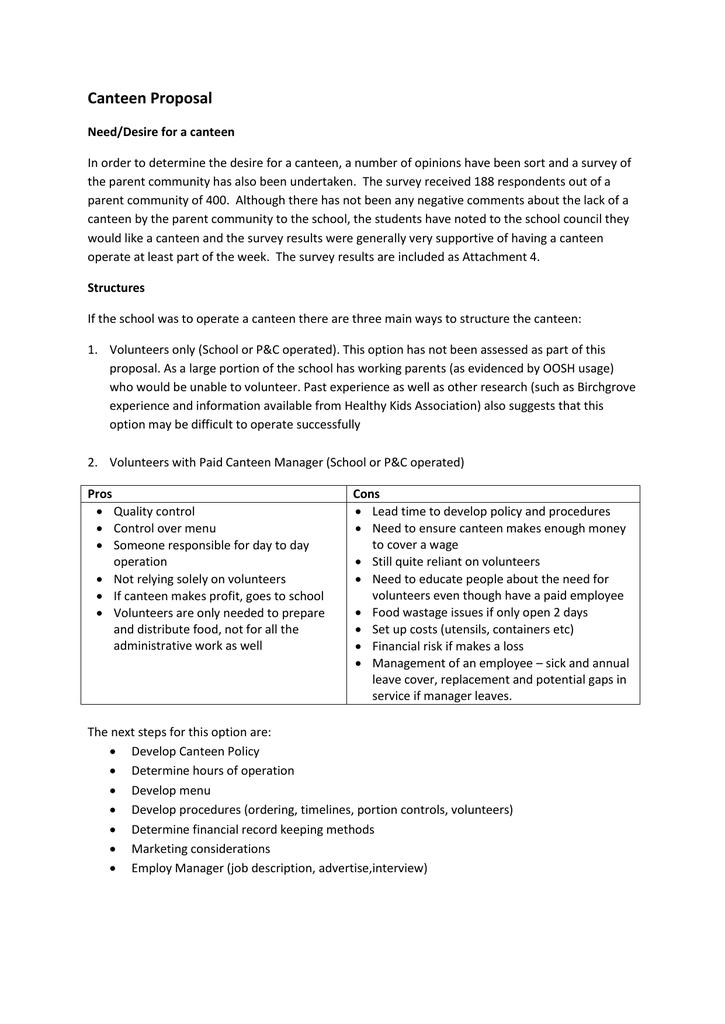 Canteen Survey Data Summary