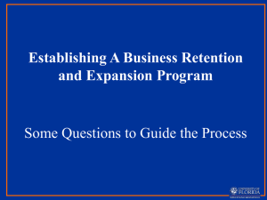 Implementing A Business Retention and Expansion Program