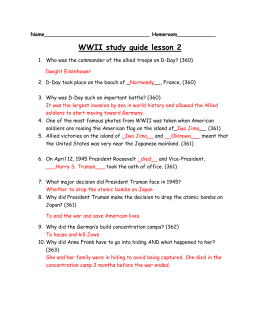 WW 2 lesson 3- with answers