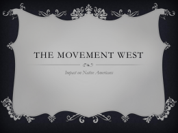 The Movement West - mrshowellshistory