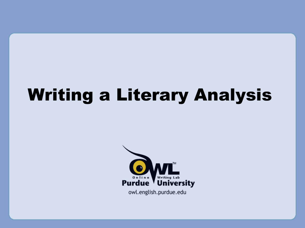 a literary analysis of society in literature