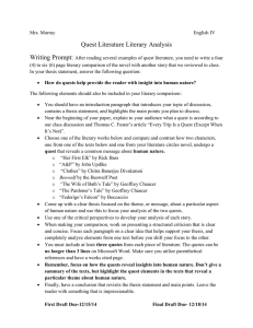 The+Quest+Literary+Comparison - Mrs-Murray-Class-Wiki