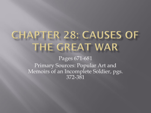APWH Chapter 28 Causes of the Great War Lecture