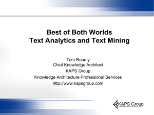 Text Analytics and Text Mining