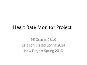 Heart Rate Monitor Project - Red Hook Central School District